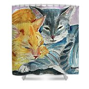 Kitty And Kat Shower Curtain