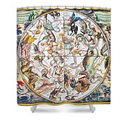 Celestial Planisphere, 1660 Shower Curtain