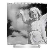 Cemetery Angel. Shower Curtain