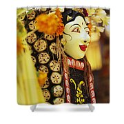 Ceremonial Mask Shower Curtain
