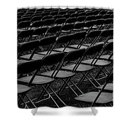 Chair Pattern Empty Seats Shower Curtain