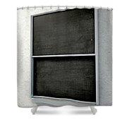 Chalk Board Render Shower Curtain