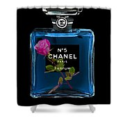Chanel With Rose Shower Curtain