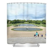 Chantilly Castle Garden In France Shower Curtain