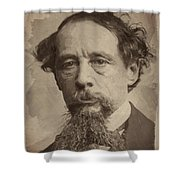 Charles Dickens 1 Shower Curtain