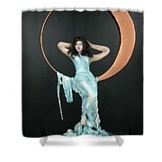 Charles Hall - Creative Arts Program - First Quarter Moon Shower Curtain
