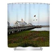 Charleston Waterfront Park During Sunset Shower Curtain