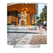 Charlotte North Carolina Street Scenes Early Morning Shower Curtain