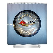Chevrolet Corvette Badge Shower Curtain