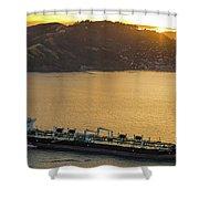 Chevron Pegasus Voyager Oil Tanker Shower Curtain