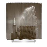 Chicago - Buckingham Fountain Shower Curtain