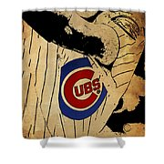 Chicago Cubs Baseball Team Vintage Card Shower Curtain