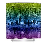 Chicago Skyline Abstract Shower Curtain