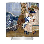 Children's Afternoon At Wargemont Shower Curtain