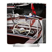 Chris Craft Utility Shower Curtain
