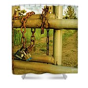 Padlocks And Chains Shower Curtain