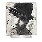 Christopher Lee, Vintage Actor Shower Curtain