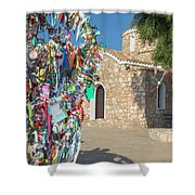 Church Of Profitis Elias - Cyprus Shower Curtain