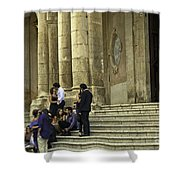 Church Step Lovers Shower Curtain