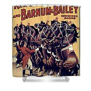 Circus Poster, 1920s Shower Curtain