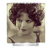 Clara Bow, Vintage Actress Shower Curtain