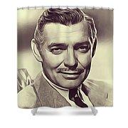 Clark Gable, Vintage Actor Shower Curtain