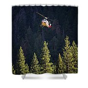 Climber Rescue Operation In Yosemite Shower Curtain