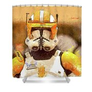 Clone Trooper Commander Shower Curtain