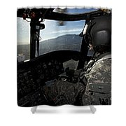 Co-pilot Flying A Ch-47 Chinook Shower Curtain