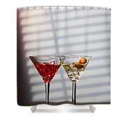 Cocktails At The Bar Shower Curtain