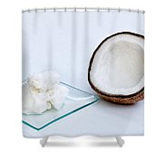 Coconut Oil And Coconut Shower Curtain