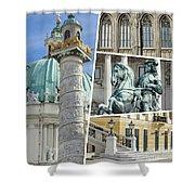 Collage Of Vienna Shower Curtain