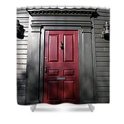 Colonial Red Door Newport Rhode Island Shower Curtain
