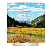 Colorado Mountain Lake In Fall Shower Curtain