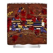 Colourful Abstract Painting Shower Curtain