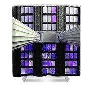 2 Column Stain Purple Shower Curtain