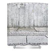 Concrete Background Shower Curtain