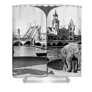 Coney Island: Luna Park Shower Curtain