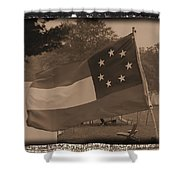 Confederate Camp Shower Curtain