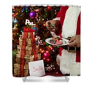 Cookies And Milk For Santa Shower Curtain