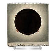 Corona Of The Sun During Total Eclipse Shower Curtain