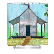 Cracker Cabin Drawing Shower Curtain