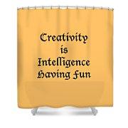 Creativity Is Intelligence Having Fun 5429.02 Shower Curtain