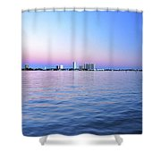 2- Crimson Horizon Shower Curtain
