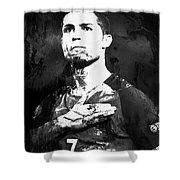 Cristiano Ronaldo Oki Shower Curtain