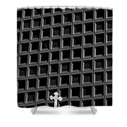 Cross And Building Shower Curtain