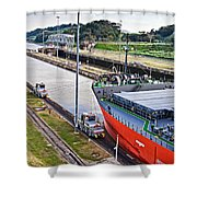 Crossing Panama Canal Shower Curtain