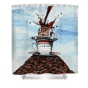 2 Cups Coffee Shower Curtain