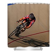 Cycle Racing On The Curve Shower Curtain