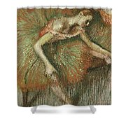 Dancers Shower Curtain by Edgar Degas